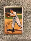 NEIL BERRY SIGNED 1951 BOWMAN BASEBALL CARD AUTOGRAPHED TIGERS TOUGH #213