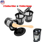 3Pcs Refillable Reusable K Cup Coffee Filter Keurig B40 B50 B60 B70 Coffee Maker