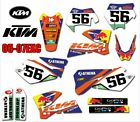Bike Graphics Decals For KTM 125 200 250 300 350 450 500 525 540 SXF MXC SX EXC