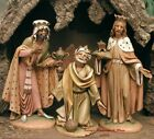 FONTANINI DEPOSE ITALY 12 3 KINGS WISE MEN NATIVITY VILLAGE FIGURES 1983 GC