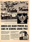 1959 12-HOURS OF SEBRING  ~  AWESOME ORIGINAL AMOCO PRINT AD