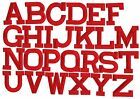 RED 2 Alphabet Letters your choice Iron on Applique Embroidered Patch