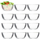 12pk Anchor Hocking Bowl Set Clear Glass Bowls For Ice Cream Salad Cereal Mixing