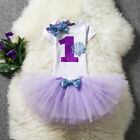 Baby Girl 1st Birthday Party Dress Outfits Sets Little Mermaid Princess Costume