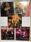 5 x HANOI ROCKS CDs - Another Hostile Takeover, Street Poetry, Two Steps etc NM