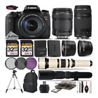 Canon EOS Rebel T6s DSLR Camera 760D + 18 135mm + 75 300mm III Lens 64GB Kit