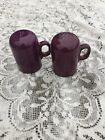 FIESTA NEW Retired HEATHER purple RANGETOP SALT & PEPPER SET Fiestaware