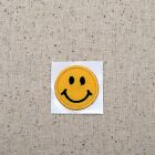 SMALL Smiley Face Emoji Iron on Applique Embroidered Patch