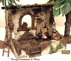 FONTANINI ITALY 5 RETIRED 4PC ANIMAL SHELTER NATIVITY VILLAGE ACCESS 55543 GCIB