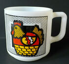 Vintage Hazel Atlas Brockway Milk Glass Rooster Chicken Soup Mug or Coffee Cup