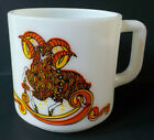 Vintage Brockway Hazel Atlas Milk Glass Zodiac Horoscope Aries Mug or Coffee Cup