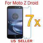7x Clear LCD Screen Protector Guard Cover Film For Motorola Moto Z Droid