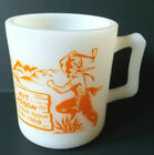 Hazel Atlas Milk Glass Kit Carson Wilderness Scout Child's Kids Mug Hard to Find