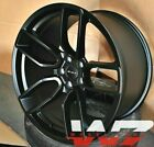 20x95 20x11 Flow Forged Satin Black Wheels Fit Dodge Charger Challenger Rims