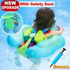 Baby Pool Float Inflatable Swimming Ring Waist With Safety Seat Adjustable Strap
