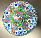 MURANO VINTAGE ITALY PAPERWEIGHT UNIQUE COLLECTIBLE COLORFUL STARS APPROX 4