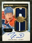 TAYLOR HALL - 2011-12 UD The Cup Emblems of Endorsement Dual Patch Auto #13 15
