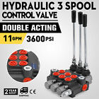 3 Spool Hydraulic Directional Control Valve 11gpm Double Acting Cylinder 40l min