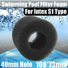 Reusable Foam Hot Tub Filter Cartridge Pure Spa Pool Black For Intex S1 1