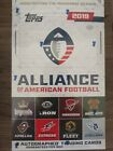 2019 Topps Alliance of American Football - Factory Sealed Hobby Box 3 Autos AAF