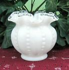 Fenton SALE Silvercrest BEADED MELON 4 1 4 tall Vase Clate 40s early 50s