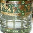 MINT 11 CERA GOLDEN GRAPES Green Barware Glasses Greek 6 Tumbler 5 Old Fashioned