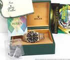 Mens Rolex 18k Gold SS Submariner 16613 Quickset Watch Full Links Box Papers