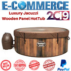 Luxury Jacuzzi Wooden Panel Air Jet Inflatable Hot Tub For 6 Person Massage Spa