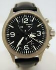 Mens SINN 756.2387 DuoChronograph Luminous Dial Tegimented Steel Automatic Watch