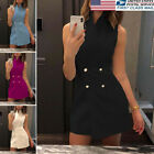 US Women's Office Lady Formal Wear Business Work Party Pencil Dress Suits
