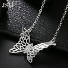 925 Silver wedding Charms Necklace Jewelry butterfly Fashion crystal women LN051