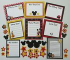 Premade Disney Scrapbook Page Journaling Mat Set Mickey Mouse