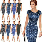 US Elegant Womens Office Formal Business Work Party Sheath Tunic Pencil Dresses