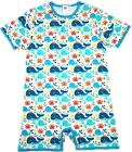 Adult Whales and Sea Life snap crotch romper