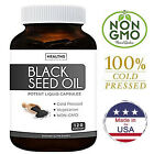 100% Pure Black Seed Oil Vegan 120 Pcs Soft Gel Capsules Cumin USA Non GMO Cold