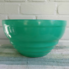 Jeannette Glass Fired-On Turquoise Bee Hive Shaped Mixing Bowl Vintage Kitchen