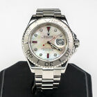 2005 Rolex Platinum & Stainless Yachtmaster Watch w/ Aftermarket Dial 40mm 16622