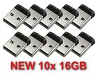 LOT 10x SanDisk Cruzer Fit SDCZ33 16GB Mini USB Flash Drive Memory 16 GB 16G
