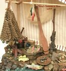 FONTANINI ITALY EARLY 5 8PC FISHING NATIVITY VILLAGE ACCESSORY SET GCIB