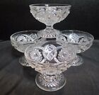 Vintage Hobstar 4 Footed Ice Cream Sherbet Dessert Bowls 2 3/4