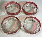 Set of 4 Vintage Indiana Glass Co Whitehall Colony Ruby Red 5