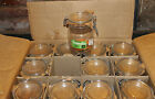 Vintage 12 pk Case Triomphe 3/4L Jar Canister with wire Bale made in France NIB