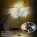 8ft Tall Cherry Blossom Flower Tree Warm and Cool White 600 LED Lighted 24V UL