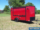 2019 6 x 12 tailgate trailer W cooler box game trailer party enclosed cargo red