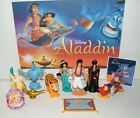 Disney Aladdin Movie Figure Set of 10 Deluxe with Bonus Toy Ring and Fun Sticker