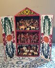 Vintage Mexican Hand Painted Folk Art Christmas Manger Nativity Scene Shadow Box