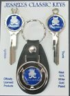 AMC Blue Gremlin Deluxe Classic White Gold Keys Set NOS 1975 1976 1977 1978