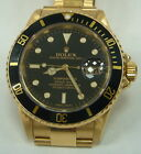 Preowned Rolex Submariner 16618N 18k Yellow Gold Black Dial Men's Watch 07 paper