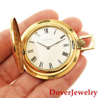 Vintage Zenith 18K Yellow Gold Swiss Made Pocket Watch 45.2 Grams NR