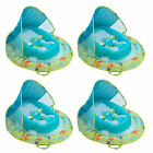 SwimWays Infant Spring Inflatable Swimming Pool Float with Canopy 4 Pack